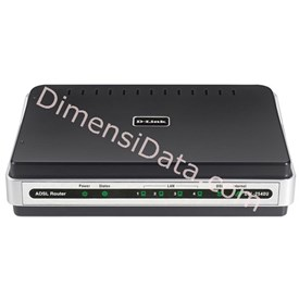 Jual Wired Router D-LINK ADSL2+ 4-port [DSL-2540U]